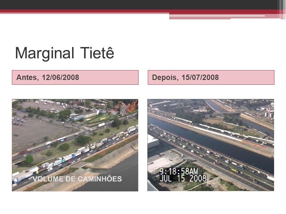 Marginal Tietê Antes, 12/06/2008Depois, 15/07/2008