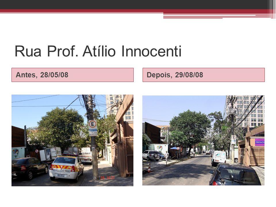 Rua Prof. Atílio Innocenti Antes, 28/05/08Depois, 29/08/08