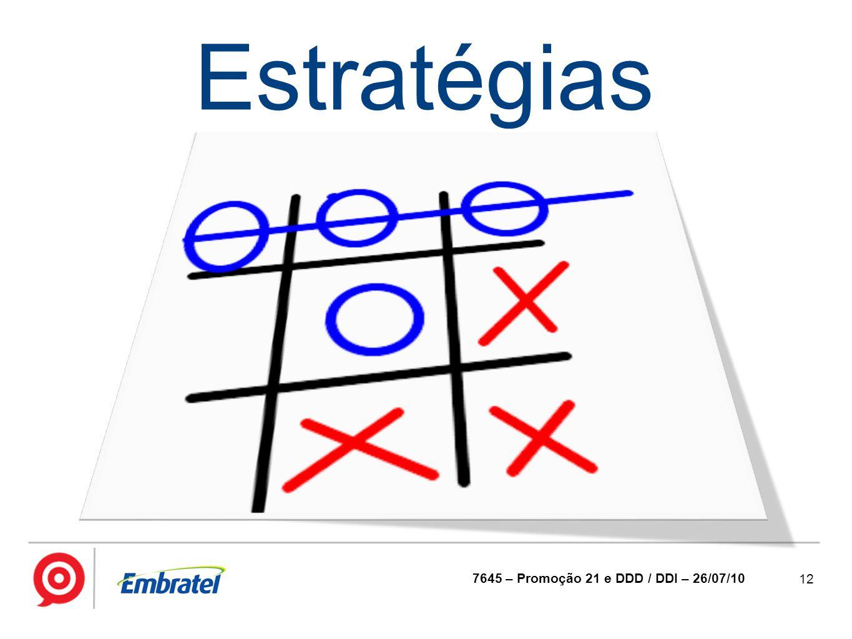 12 7645 – Promoção 21 e DDD / DDI – 26/07/10 Estratégias
