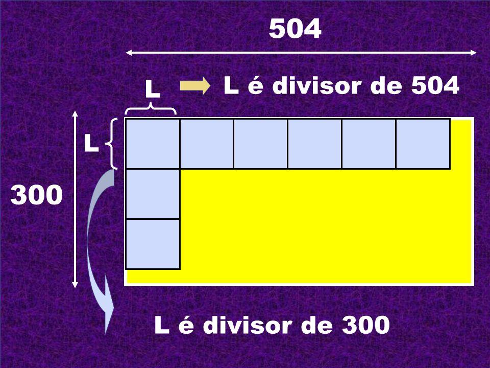 504 300 L L L é divisor de 504 L é divisor de 300