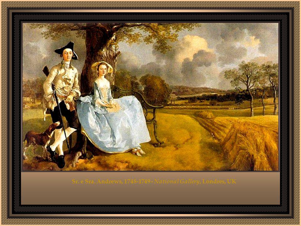 Voltando para Londres, Gainsborough e Reynolds disputam os modelos famosos. Gainsborough, em geral, consegue apreender melhor a fisionomia e tem técni