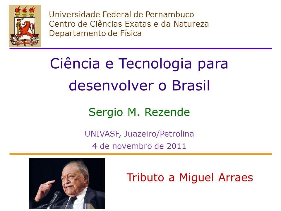 Universidade Federal de Pernambuco Centro de Ciências Exatas e da Natureza Departamento de Física Ciência e Tecnologia para desenvolver o Brasil Sergio M.