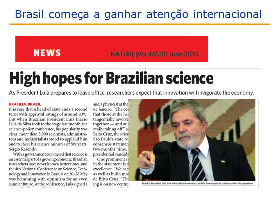 Brasil começa a ganhar atenção internacional