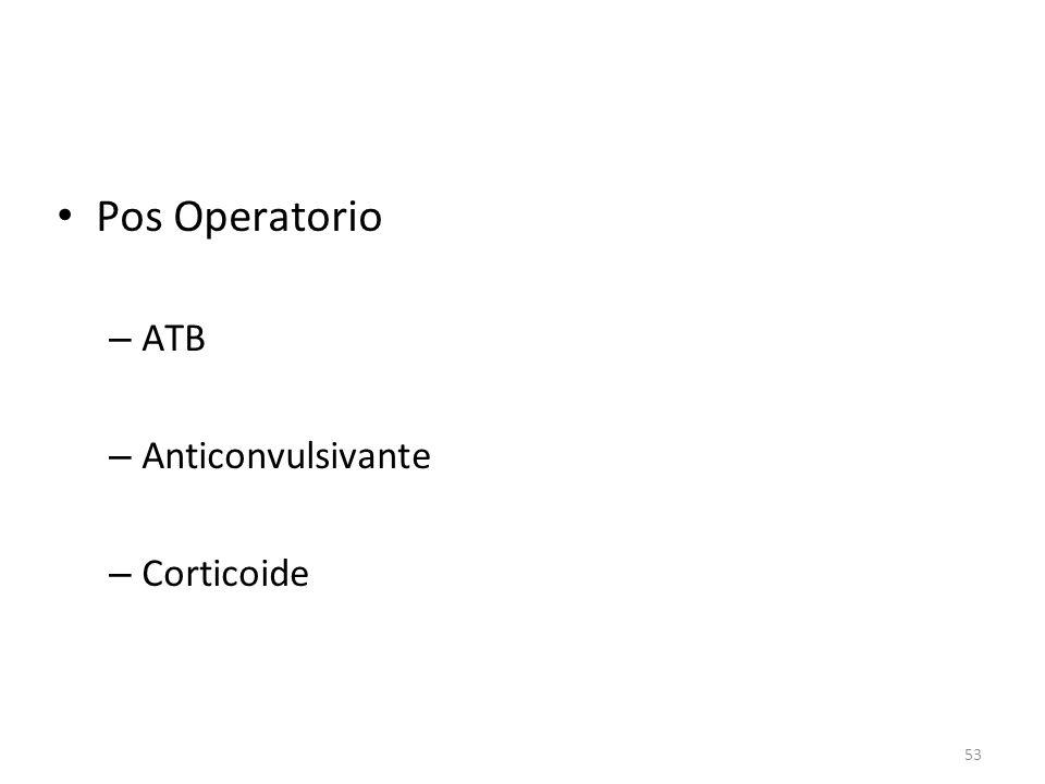 53 • Pos Operatorio – ATB – Anticonvulsivante – Corticoide