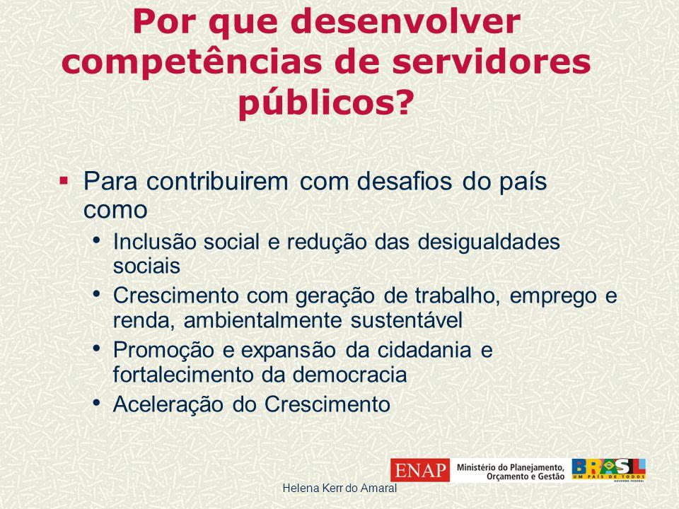 Por que desenvolver competências de servidores públicos?  Para contribuirem com desafios do país como • Inclusão social e redução das desigualdades s
