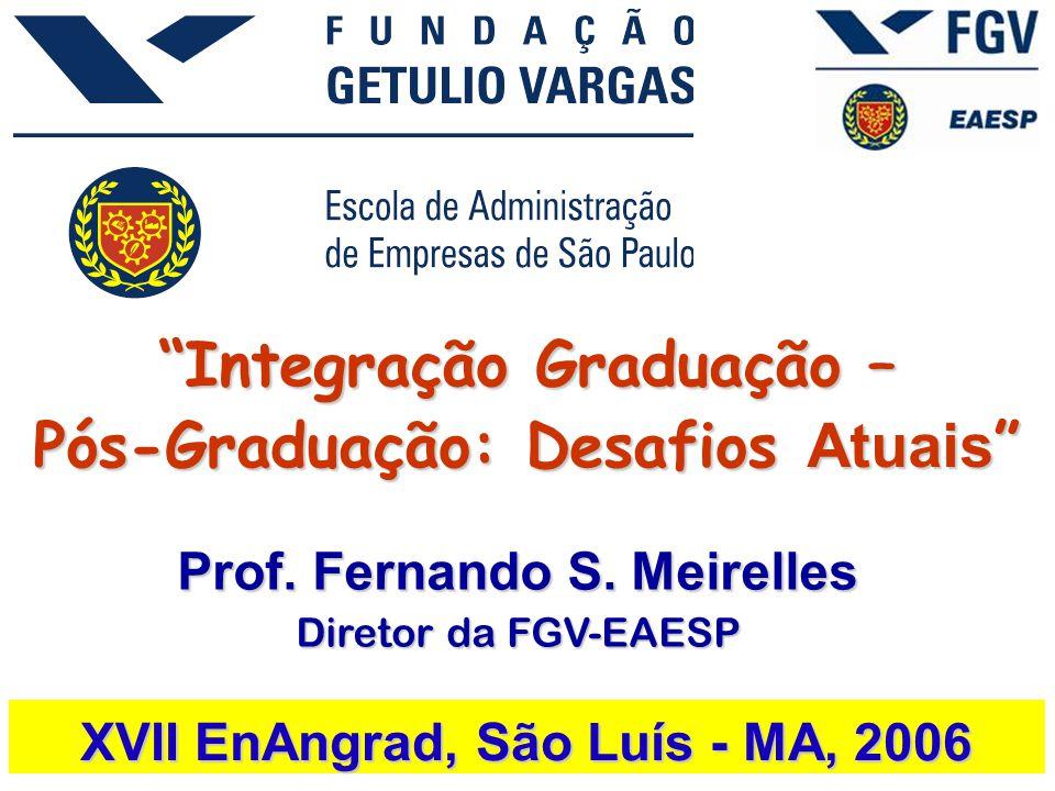Integração Graduação – Pós-Graduação: Desafios Atuais XVII EnAngrad, São Luís - MA, 2006 Prof.