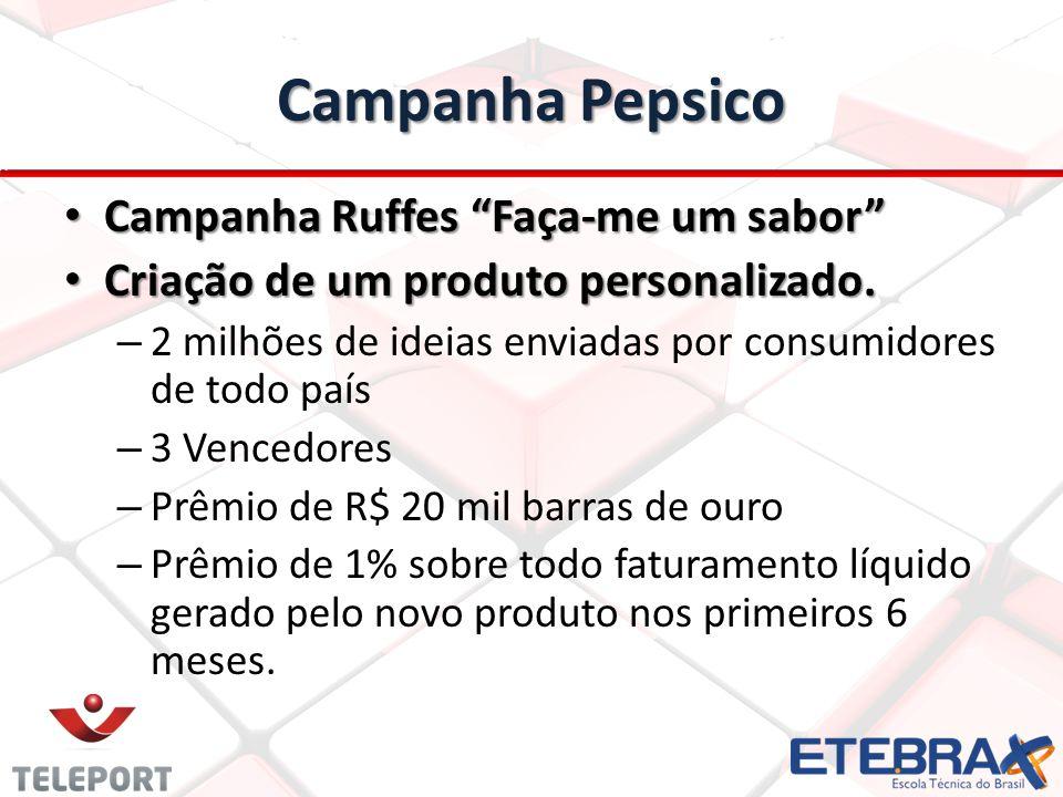 Campanha Pepsico • Campanha Ruffes Faça-me um sabor • Criação de um produto personalizado.