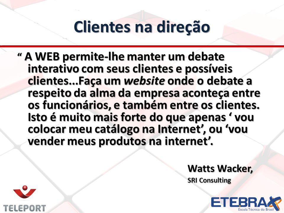 Clientes na direção A WEB permite-lhe manter um debate interativo com seus clientes e possíveis clientes...Faça um website onde o debate a respeito da alma da empresa aconteça entre os funcionários, e também entre os clientes.