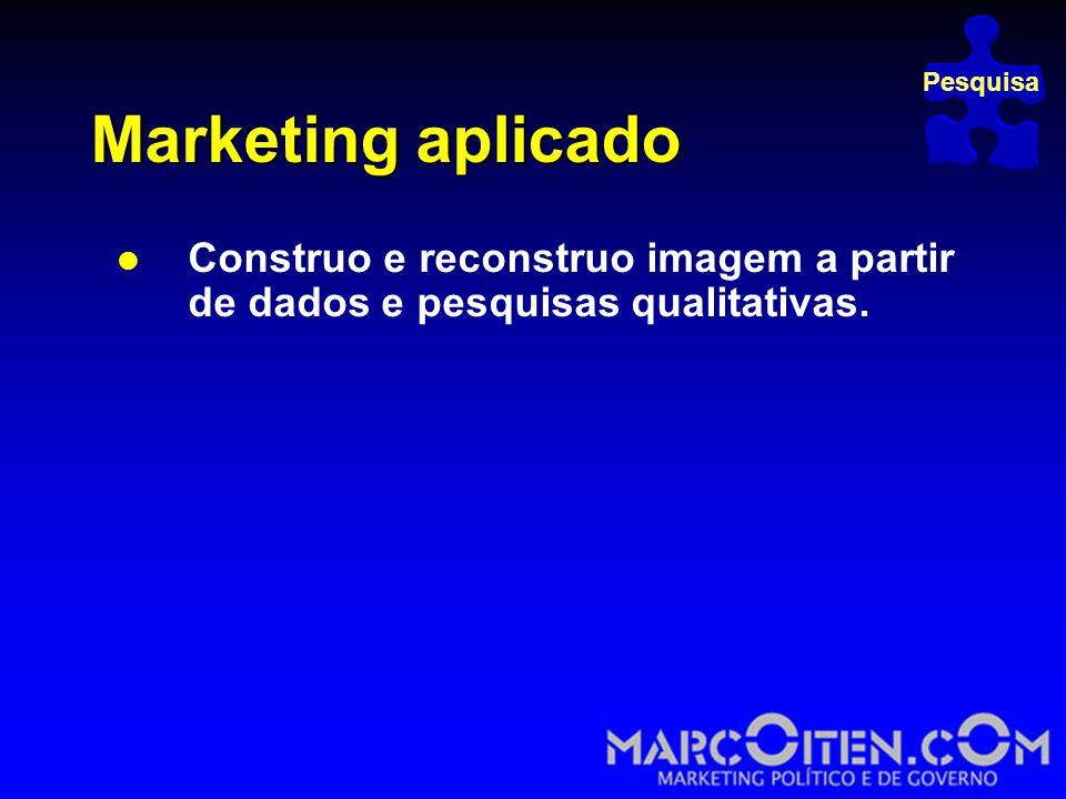 Marketing aplicado  Construo e reconstruo imagem a partir de dados e pesquisas qualitativas.