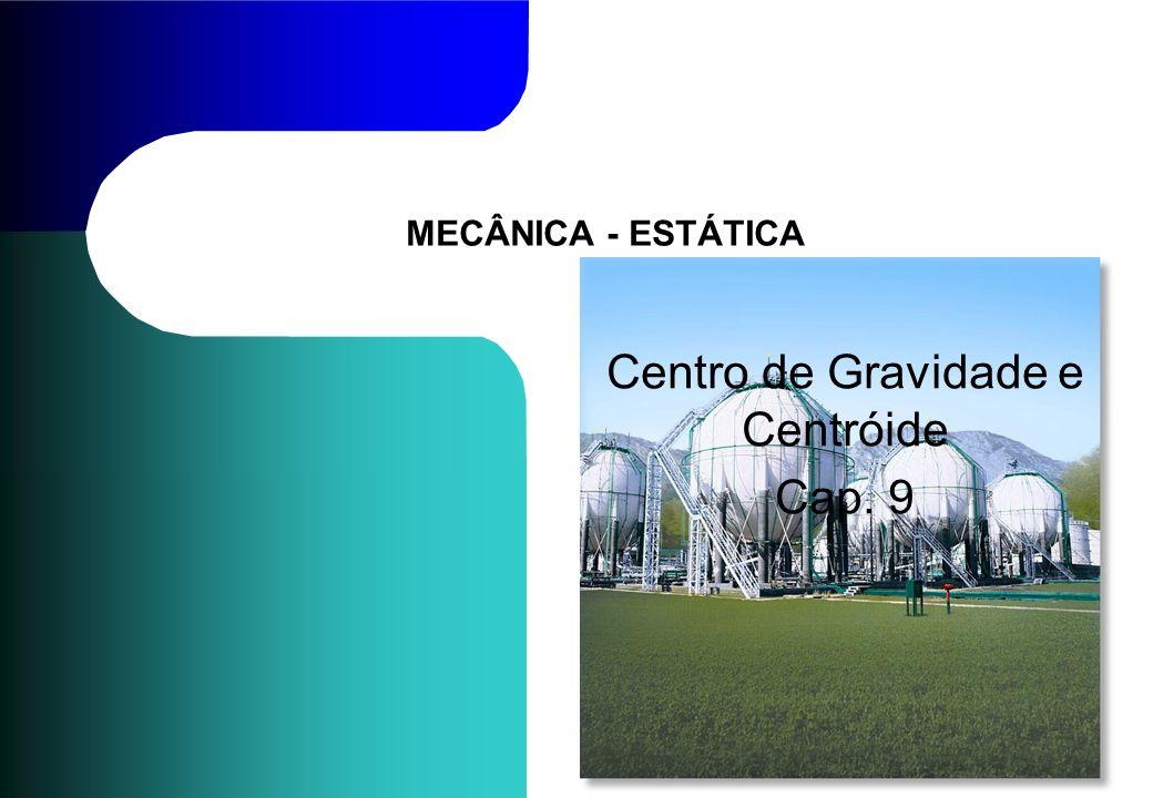 MECÂNICA - ESTÁTICA Centro de Gravidade e Centróide Cap. 9