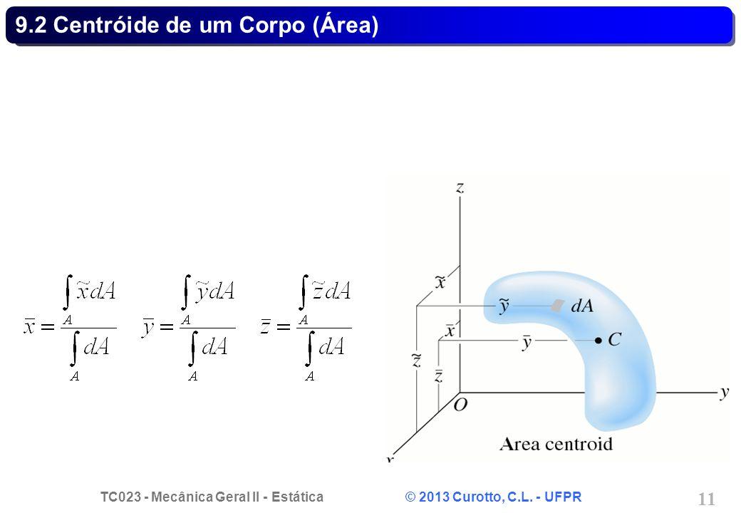 TC023 - Mecânica Geral II - Estática © 2013 Curotto, C.L. - UFPR 11 9.2 Centróide de um Corpo (Área)