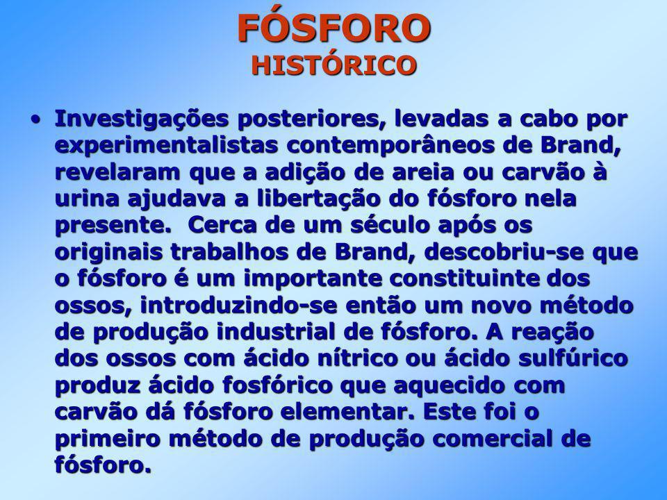 FÓSFORO SUPERFOSFATOS •São importantes fertilizantes.