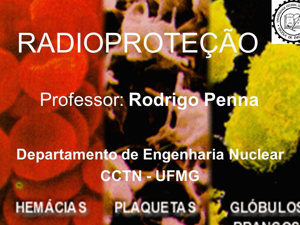 1 RADIOPROTEÇÃO Professor: Rodrigo Penna Departamento de Engenharia Nuclear CCTN - UFMG