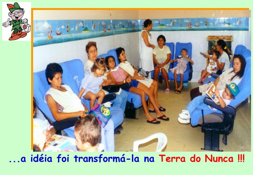 Com a tentativa de humanizar o ambiente da enfermaria de Quimio- terapia PETER PAN Tudo começou...