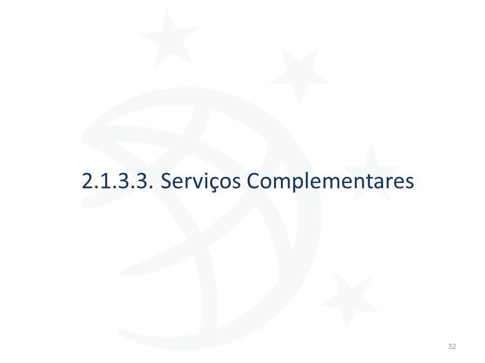 2.1.3.3. Serviços Complementares 32