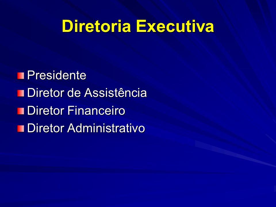 Diretoria Executiva Presidente Diretor de Assistência Diretor Financeiro Diretor Administrativo
