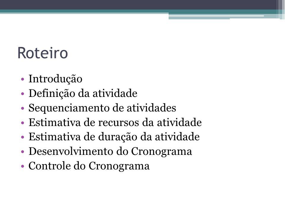 6.5 Desenvolvimento do Cronograma Kleber de Souza