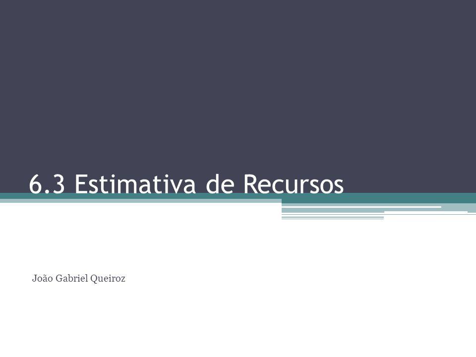 6.3 Estimativa de Recursos João Gabriel Queiroz