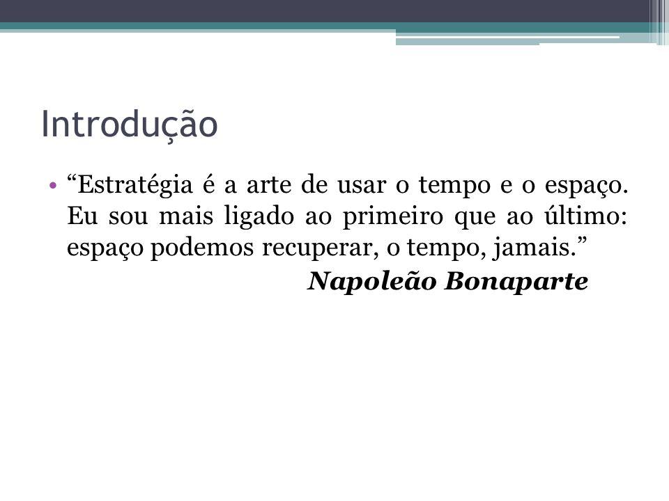 Introdução • Estratégia é a arte de usar o tempo e o espaço.