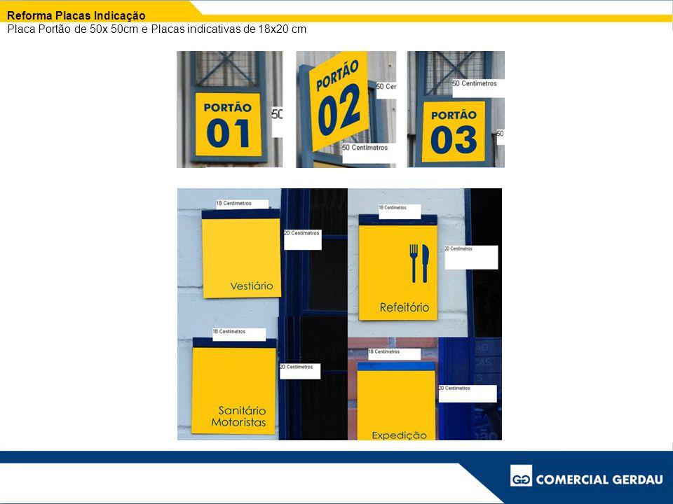 Reforma Placas Indicação Placa Portão de 50x 50cm e Placas indicativas de 18x20 cm