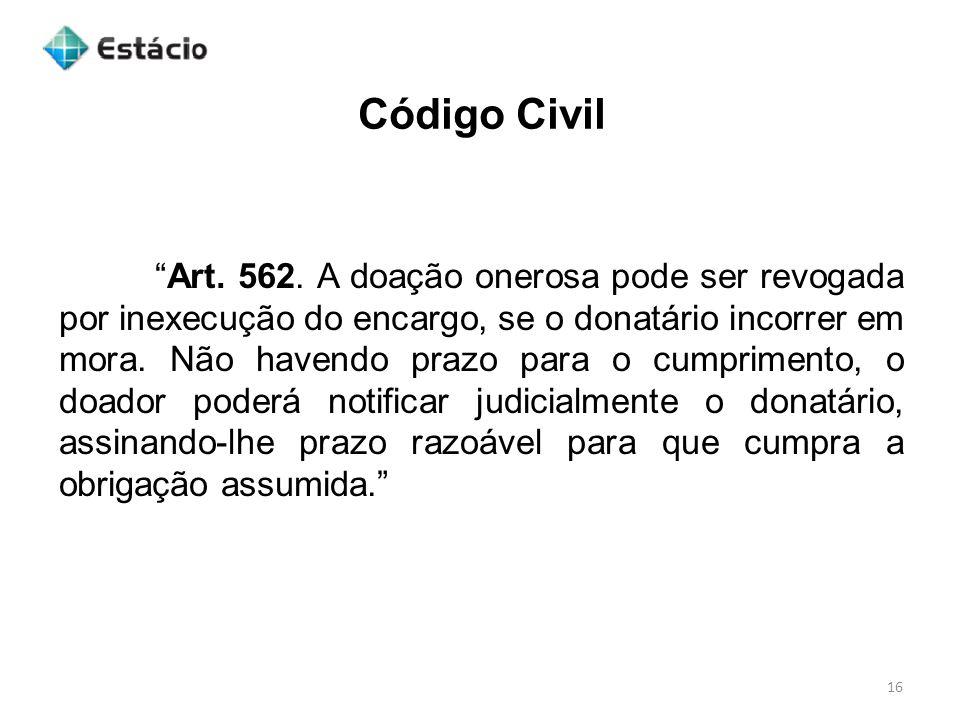 Código Civil 16 Art.562.