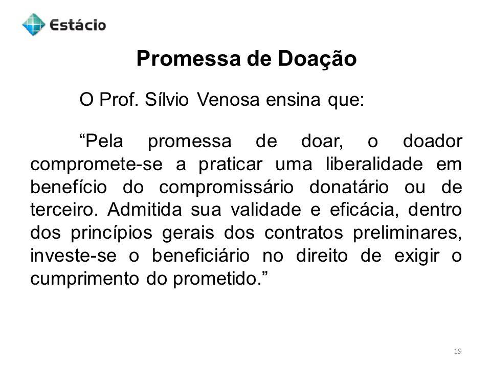 Promessa de Doação 19 O Prof.