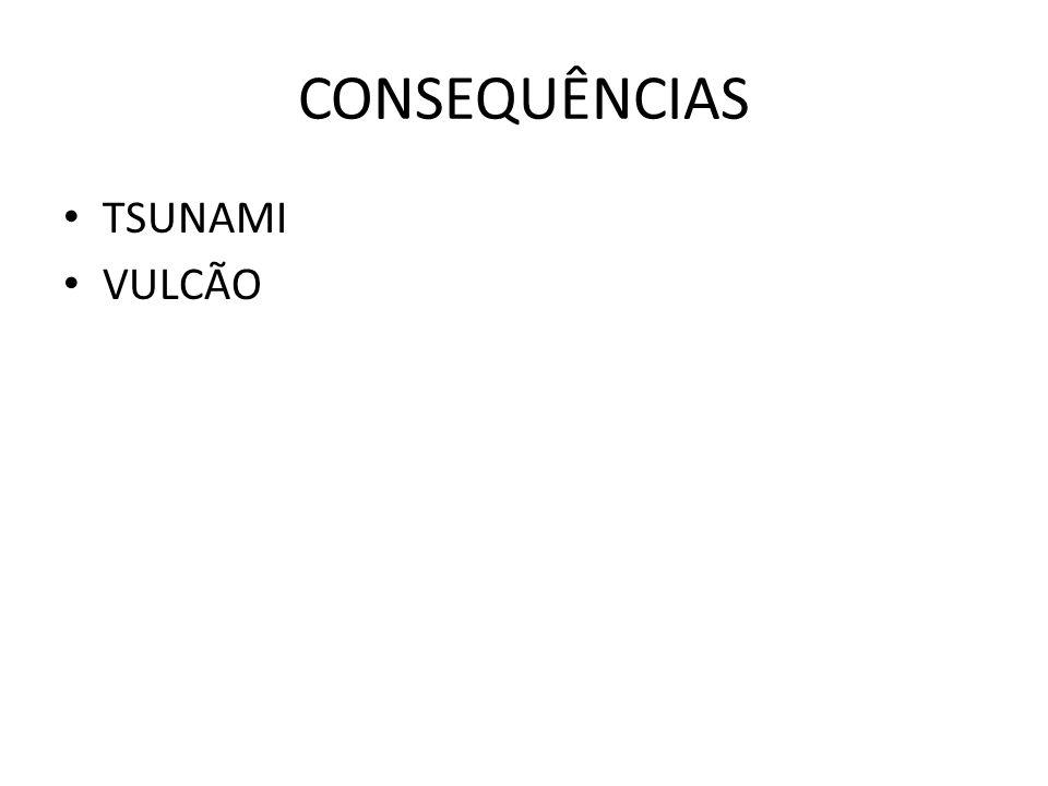 CONSEQUÊNCIAS • TSUNAMI • VULCÃO