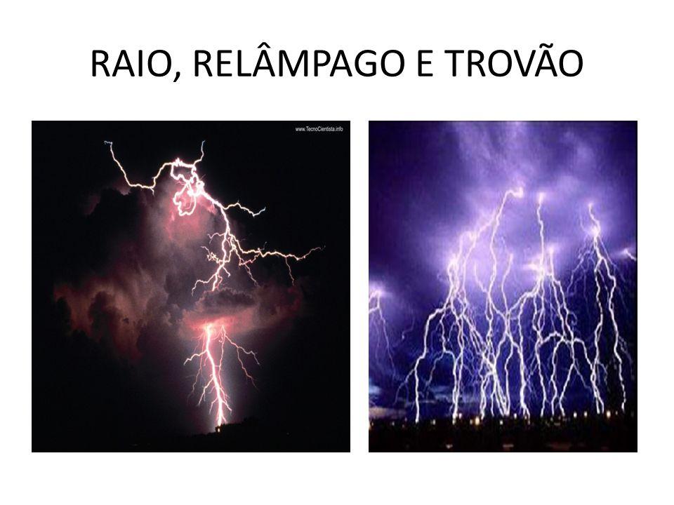 RAIO, RELÂMPAGO E TROVÃO