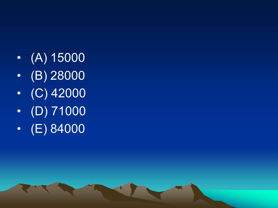• (A) 15000 • (B) 28000 • (C) 42000 • (D) 71000 • (E) 84000