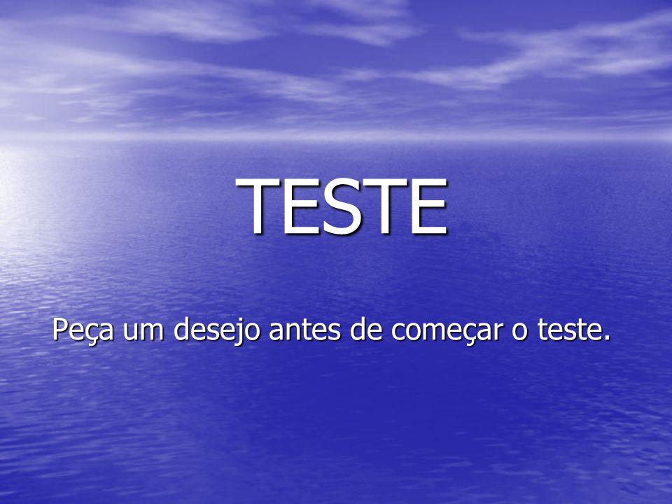 TESTE TESTE Peça um desejo antes de começar o teste.