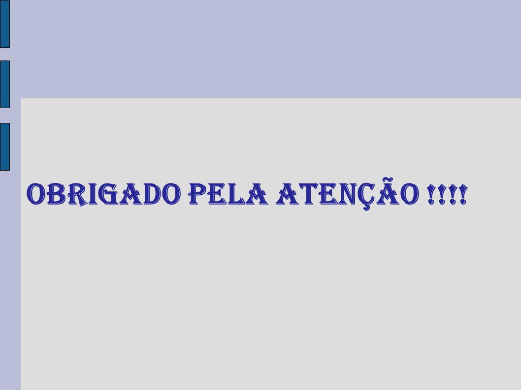OBRIGADO PELA ATENÇÃO !!!!