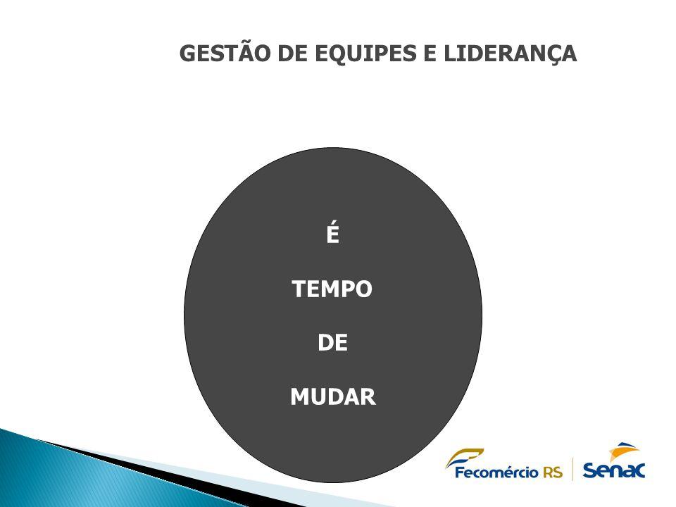 GESTÃO DE EQUIPES E LIDERANÇA É TEMPO DE MUDAR
