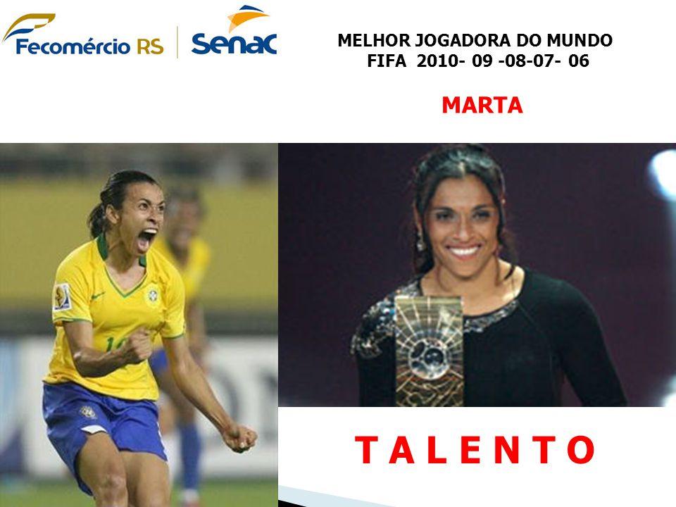 MELHOR JOGADORA DO MUNDO FIFA 2010- 09 -08-07- 06 MARTA T A L E N T O