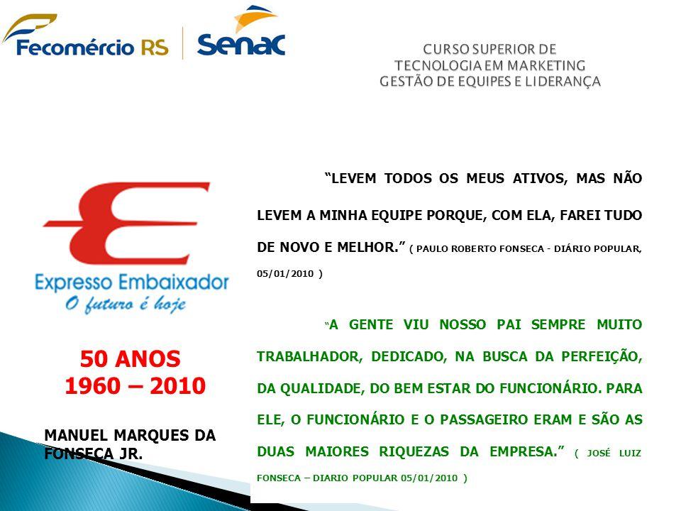 """""""LEVEM TODOS OS MEUS ATIVOS, MAS NÃO LEVEM A MINHA EQUIPE PORQUE, COM ELA, FAREI TUDO DE NOVO E MELHOR."""" ( PAULO ROBERTO FONSECA - DIÁRIO POPULAR, 05/"""