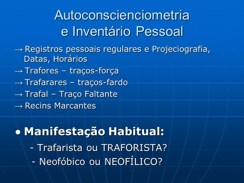 Autoconscienciometria e Inventário Pessoal → Registros pessoais regulares e Projeciografia, Datas, Horários → Trafores – traços-força → Trafarares – t