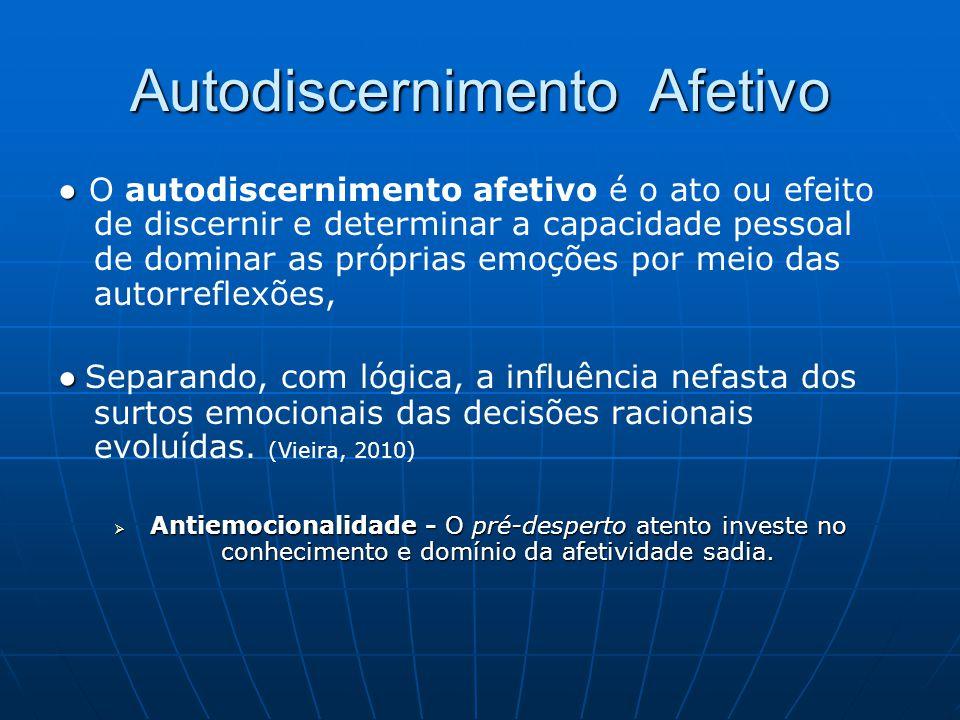 Autodiscernimento Afetivo ● ● O autodiscernimento afetivo é o ato ou efeito de discernir e determinar a capacidade pessoal de dominar as próprias emoç