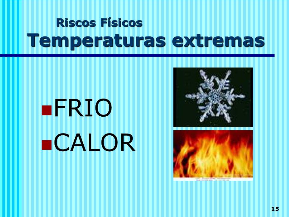 15 Riscos Físicos Temperaturas extremas  FRIO  CALOR