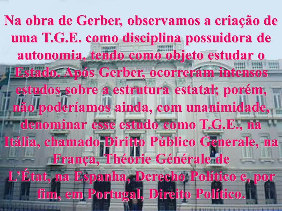 Na obra de Gerber, observamos a criação de uma T.G.E.
