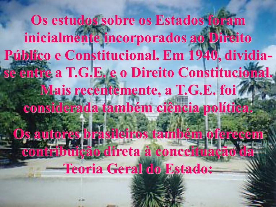 Na obra de Gerber, observamos a criação de uma T.G.E. como disciplina possuidora de autonomia, tendo como objeto estudar o Estado. Após Gerber, ocorre