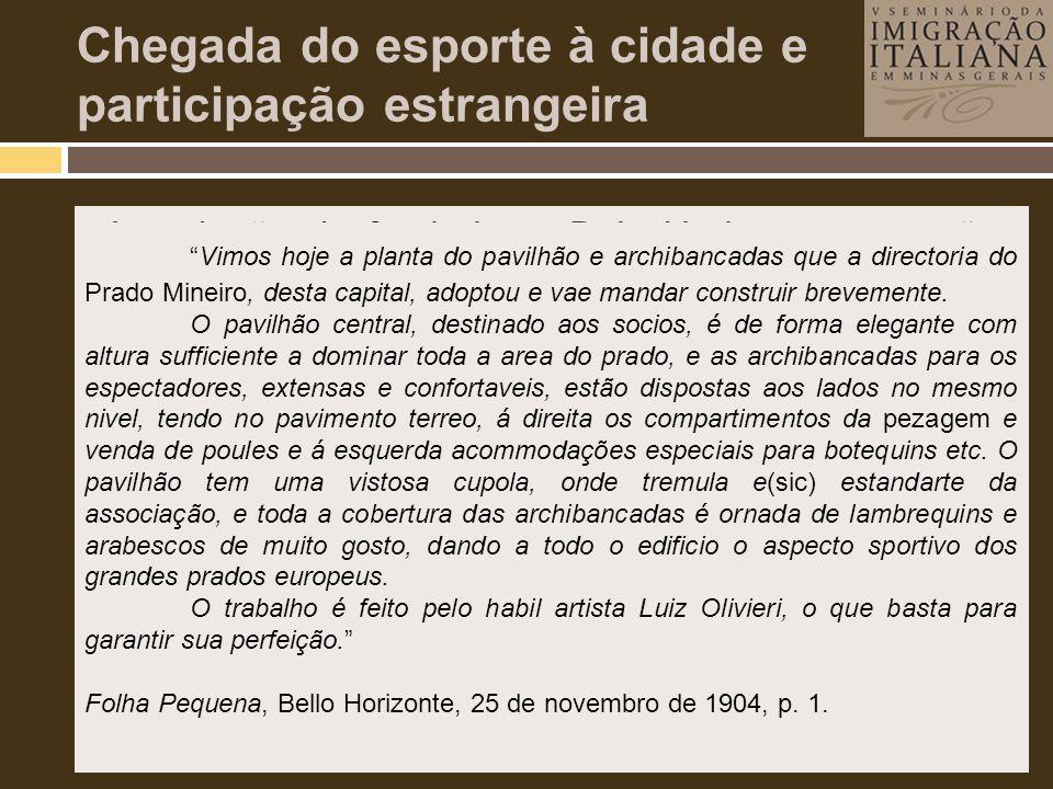 Chegada do esporte à cidade e participação estrangeira • Introdução do futebol em Belo Horizonte, conexões com o exterior e participação de estrangeir