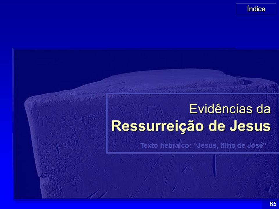 """Índice 65 Texto hebraico: """"Jesus, filho de José"""" Evidências da Ressurreição de Jesus"""