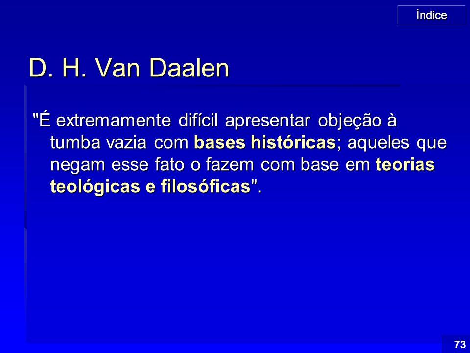 Índice 73 D. H. Van Daalen