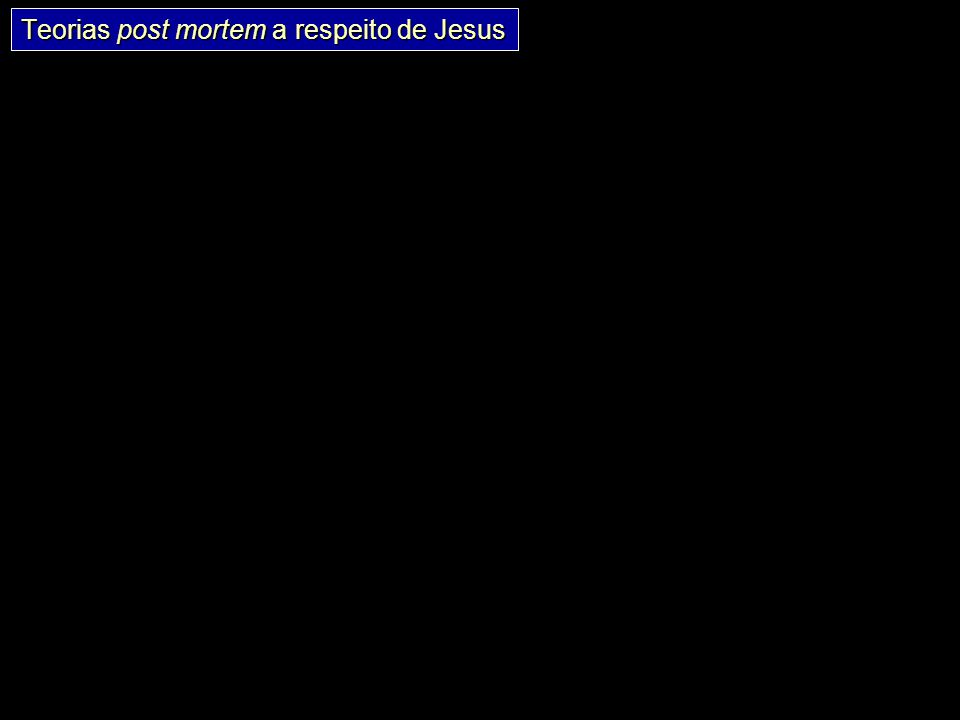 Índice 83 N Crucificação Sepultado Corpo* Encontrado? * Isto é, corpo sem vida (diferente da ressurreição) Corpo roubado? Teoria consp.Teoria mito Teo