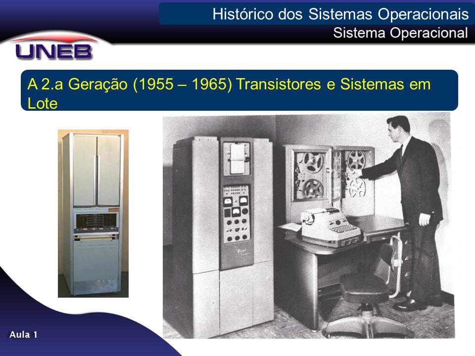 A 2.a Geração (1955 – 1965) Transistores e Sistemas em Lote Histórico dos Sistemas Operacionais