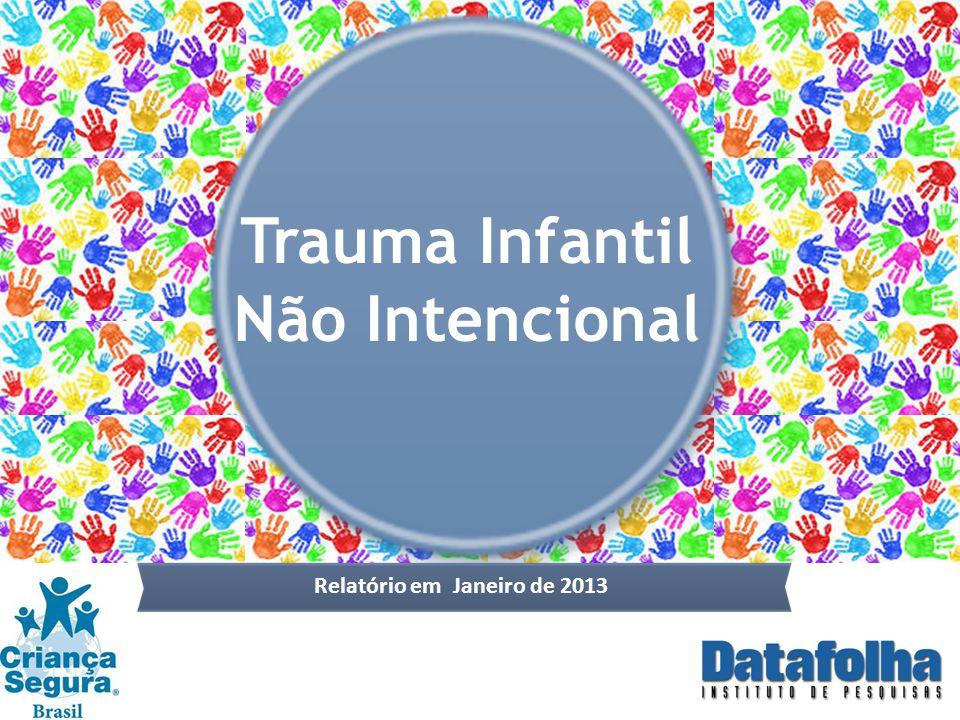 Trauma Infantil Não Intencional POPULAÇÃO BRASILEIRA Relatório em Janeiro de 2013