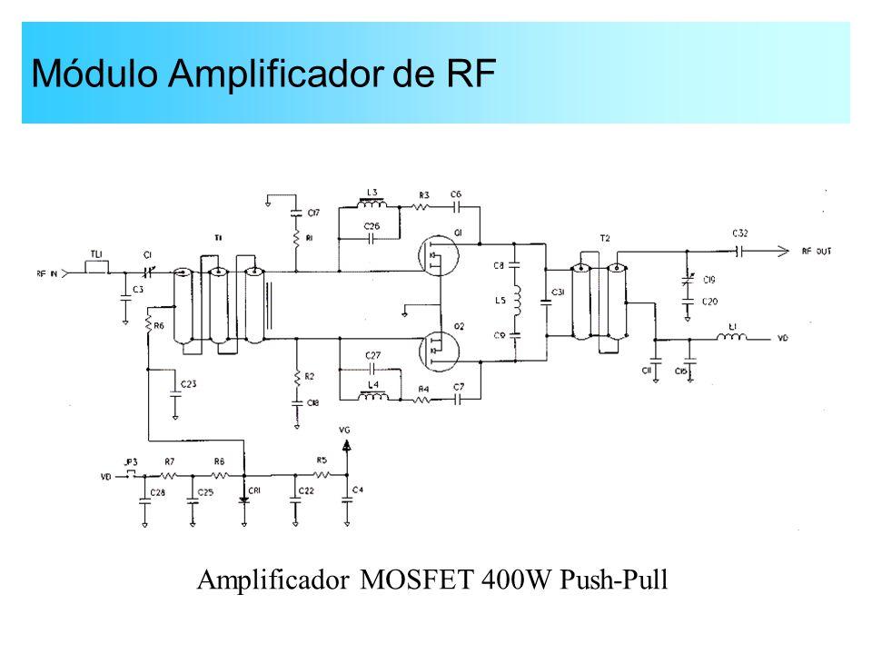 Módulo Amplificador de RF Amplificador MOSFET 400W Push-Pull