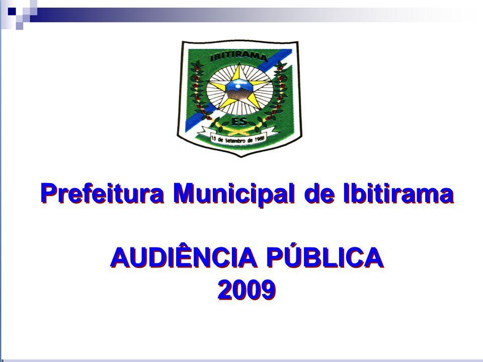 Prefeitura Municipal de Ibitirama AUDIÊNCIA PÚBLICA 2009 Prefeitura Municipal de Ibitirama AUDIÊNCIA PÚBLICA 2009