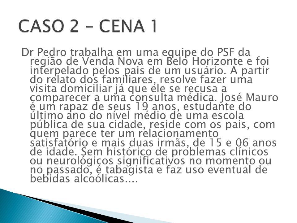 Dr Pedro trabalha em uma equipe do PSF da região de Venda Nova em Belo Horizonte e foi interpelado pelos pais de um usuário.