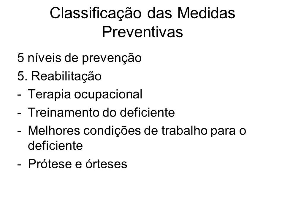 5 níveis de prevenção 5.