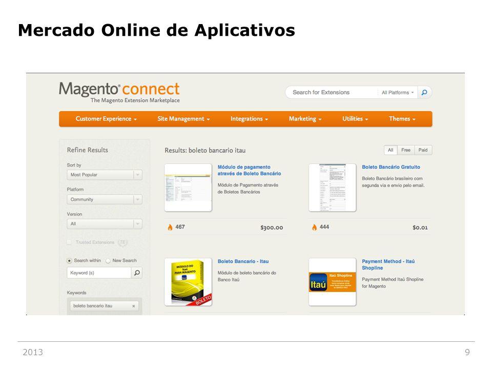 Mercado Online de Aplicativos 20139